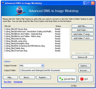 Advanced DWG to Image Workshop screenshot